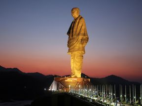 The Statue of Unity is more than twice the size of the Statue of Liberty