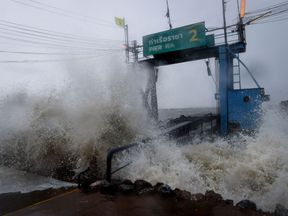 Tropical storm Pabuk arrives in the southern Thai province of Surat Thani
