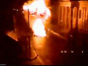 Londonderry car bomb exploded minutes after young people walked past, CCTV reveals