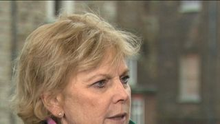 Anna Soubry responds to protests outside parliament by not responding