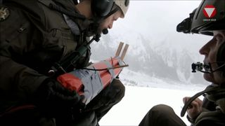 Authorities in Austria dropped explosives from helicopters to spark controlled avalanches.