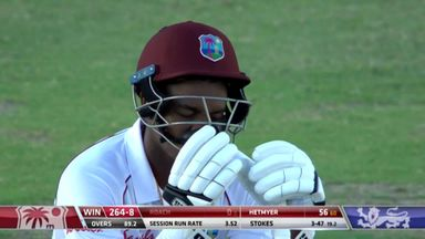 Roach (0) snicks to Root: WI 264-8