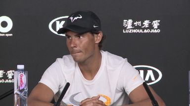 Nadal wakes up sleeping journalist!