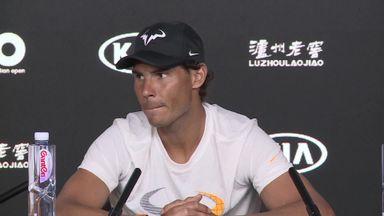 Nadal wakes up sleeping journalist!