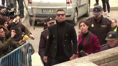 Ronaldo arrives for tax case in Madrid