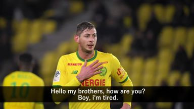 Sala's audio message from plane