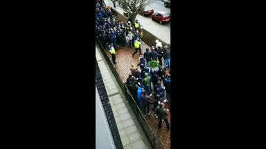 Violence before Millwall-Everton tie