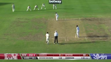 Dowrich (0) top edges to Buttler: WI 250-6