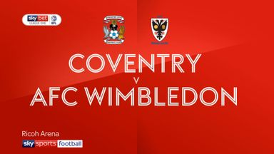 Coventry 1-1 AFC Wimbledon