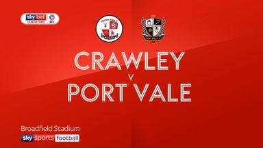 Crawley 0-1 Port Vale