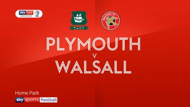 Plymouth 2-1 Walsall