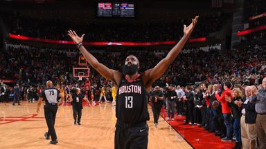 Harden stars as Rockets win in OT