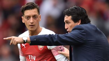 Ozil exit not in Emery's thoughts