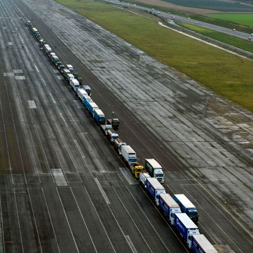 Lorry drivers paid £550 each for 'no-deal' Brexit rehearsal