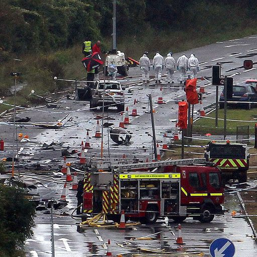 Shoreham air crash survivors thought they were going to die in 'fireball'