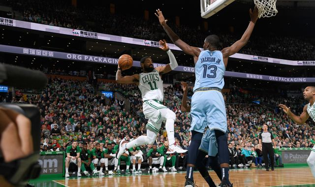 Kyrie Irving scores 38 points as Boston Celtics resist Memphis Grizzlies rally