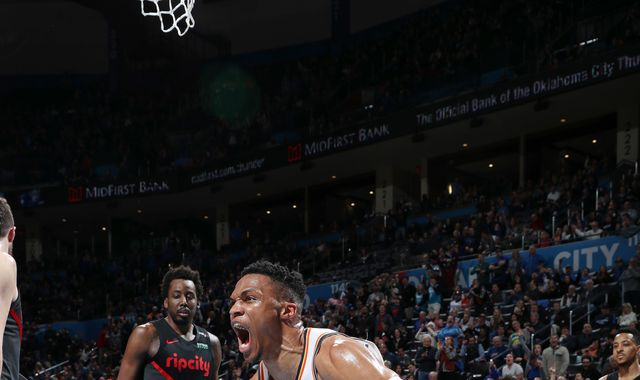 Russell Westbrook records triple-double as Oklahoma City Thunder beat Portland Trail Blazers