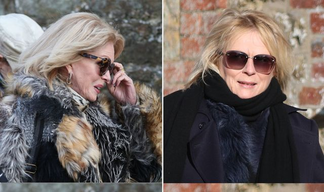 June Whitfield funeral: Jennifer Saunders and Joanna Lumley join mourners to say goodbye