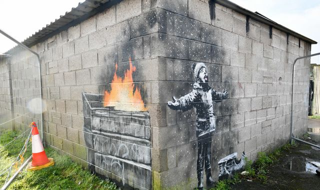 Banksy Port Talbot garage mural sold to art dealer for six-figure sum