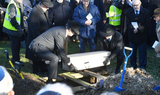 Burial service held for six unknown Holocaust victims murdered at Auschwitz