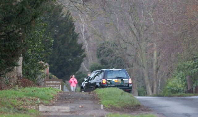 Police speak to Prince Philip after he is pictured driving without seatbelt two days after crash