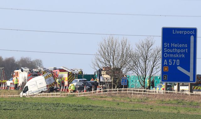 Woman, 91, dies more than a week after M58 crash