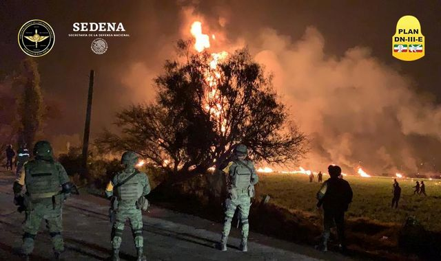 Mexico pipeline explosion: 73 killed and 74 hurt after fuel theft