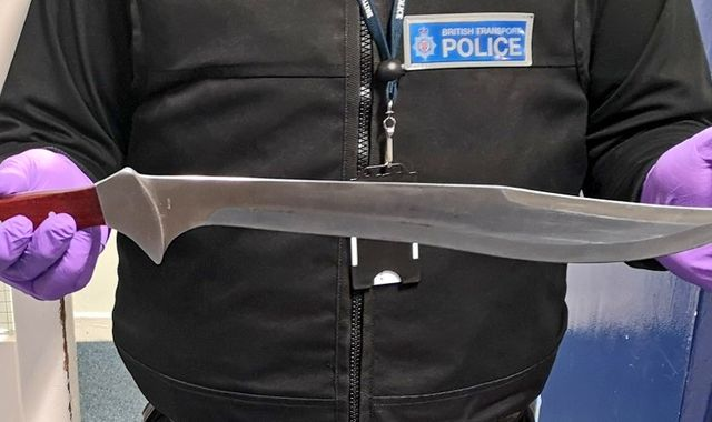 Man arrested for carrying 15in machete on Greater Anglia train in Essex