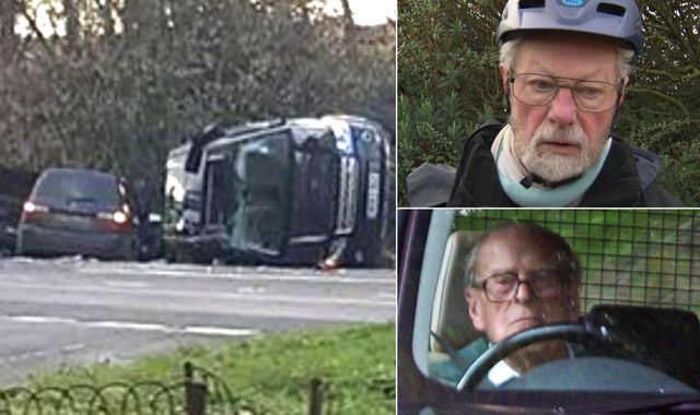 Prince Philip crash: Man describes moment he pulled Duke of Edinburgh from overturned Land Rover