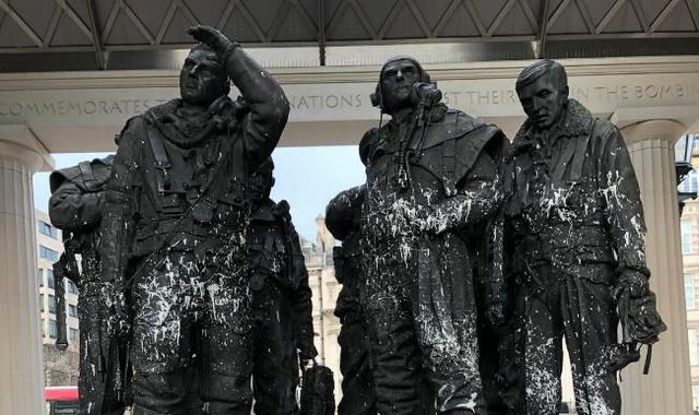 'Mindless' vandals throw white paint over WWII Bomber Command Memorial