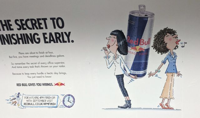 Red Bull '4pm Finish' tube ad banned over implied health claims