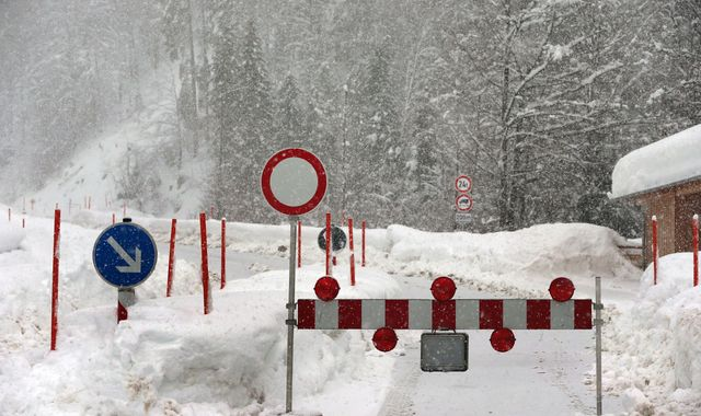 Avalanche hits hotel in Germany as death toll from Europe snow rises