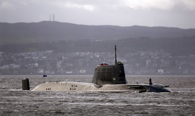 Nuclear-powered Royal Navy submarine in 'near-miss' with ferry