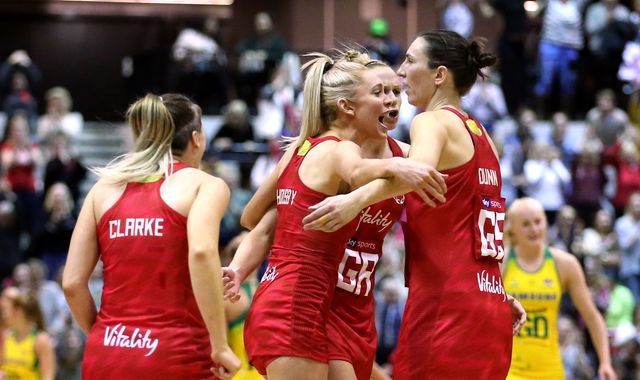 Netball Quad Series: England Vitality Roses beat Australian Diamonds but miss out on title