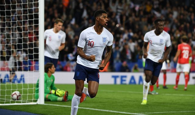 Marcus Rashford misses full England training ahead of Czech Republic game