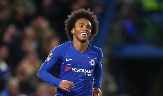 Chelsea reject £35m bids for Willian from Barcelona and Atletico Madrid