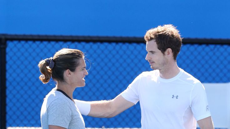 Andy Murray and Amelie Mauresmo in 2016