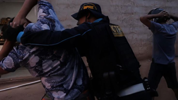 An arrest being made in Fortaleza