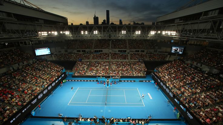 The Australian open in Melbourne as Andy Murray plays Roberto Bautista