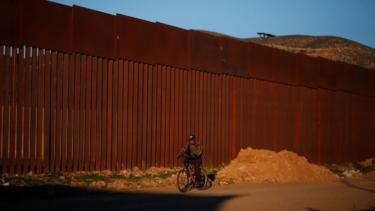 Parts of the border already have a wall, such as here dividing Tijuana and San Diego County