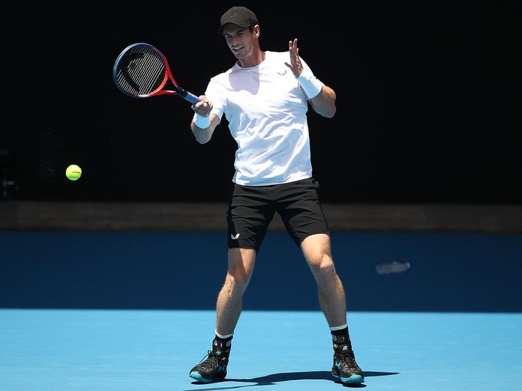 He was back on the practice courts in Melbourne the day after the announcement