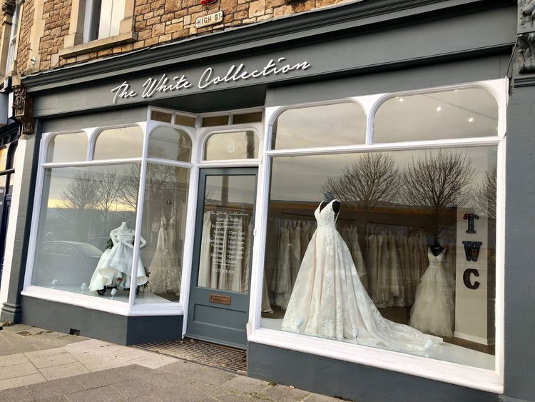 Bridal store The White Collection's shop front