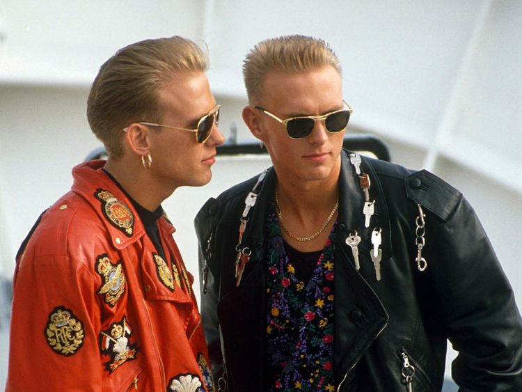 Mandatory Credit: Photo by Eugene Adebari/REX/Shutterstock (155570c).BROS - MATT AND LUKE GOSS.THE SAN REMO POP FESTIVAL, ITALY - 1989