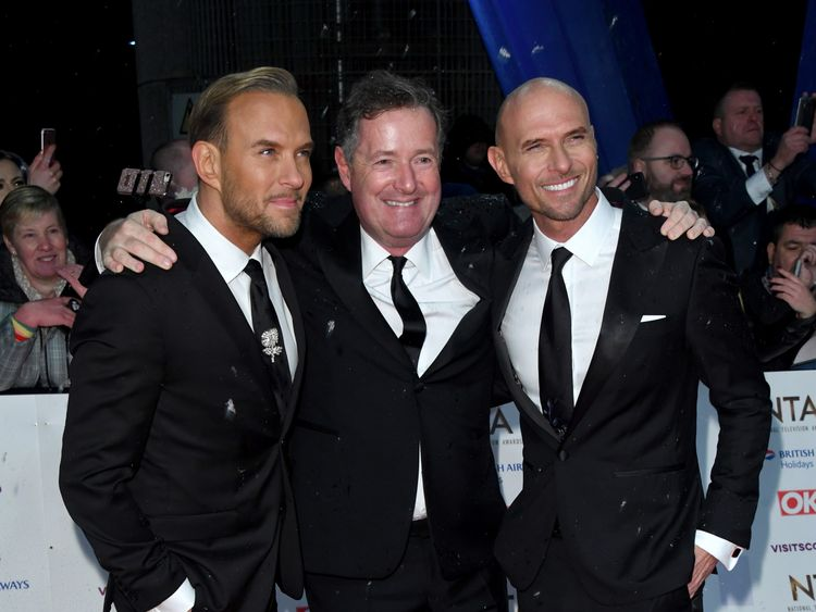 Piers Morgan on the red carpet with BROS as they plan a comeback