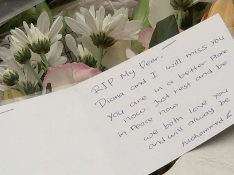 Tributes have been left where she was found
