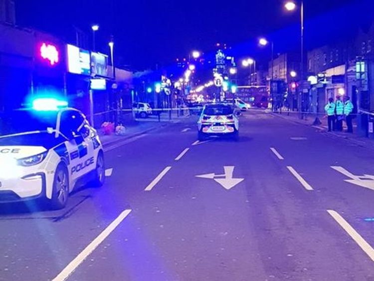The woman was pronounced dead at the scene in Camberwell