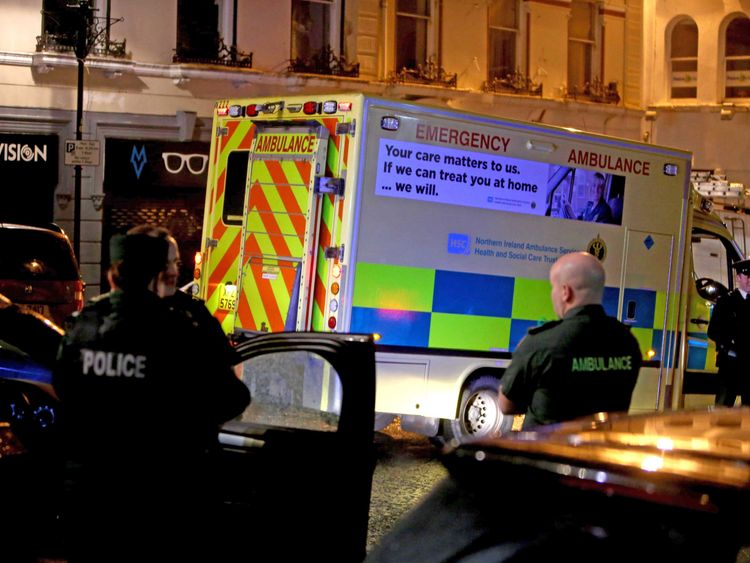 Emergency services were at the scene in central Derry/Londonderry