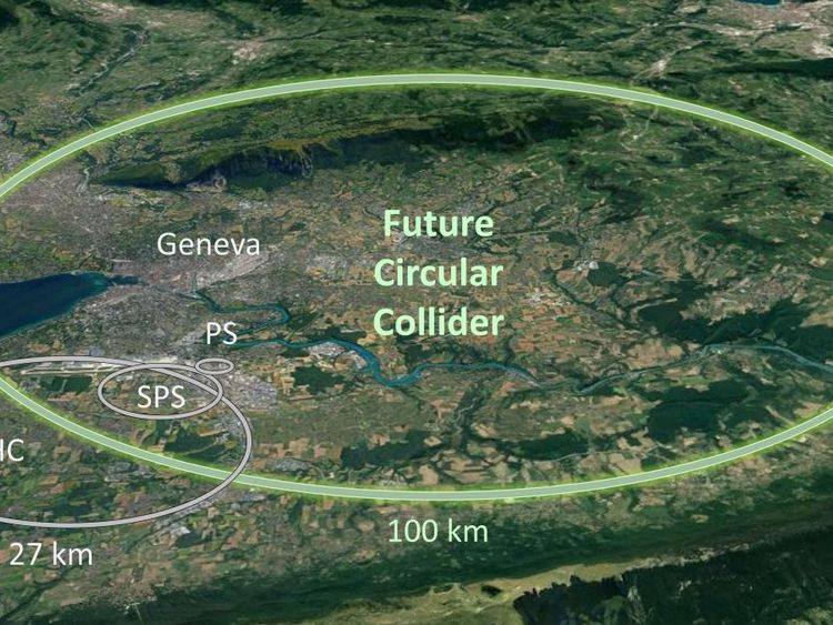 Cern-physicists are planning a huge particle accelerator