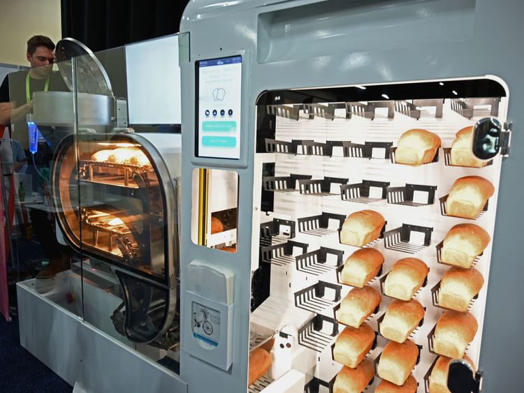 The BreadBot can produce a loaf of bread every six minutes