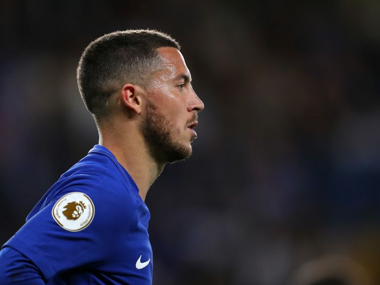 Eden Hazard, Chelsea's star player, appears in the video